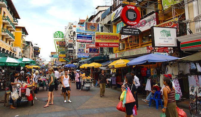 The infamous Khao San Road