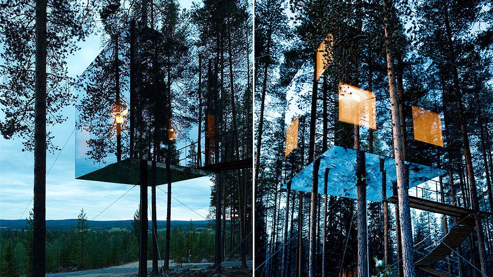 Mirrorcube Tree House Hotel, Sweden